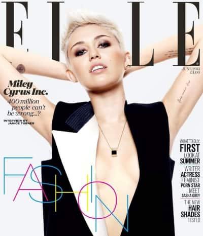 Miley Cyrus Elle Cover