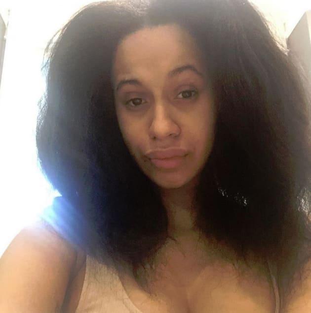 Cardi B Hair: Cardi B Stuns With Makeup-Free Selfie And Natural Hair