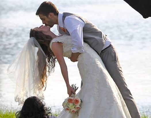 Jill duggar wedding pic first kiss