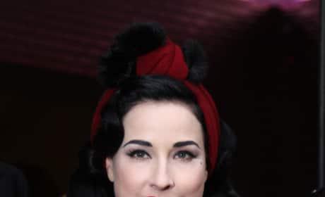 Dita von Teese in Red