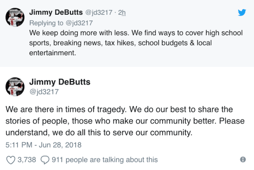 debutts tweet