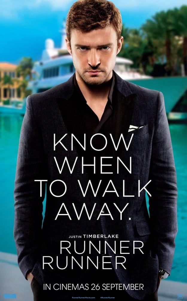 Runner Runner poster Justin Timberlake