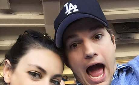 Mila Kunis and Ashton Kutcher Selfie