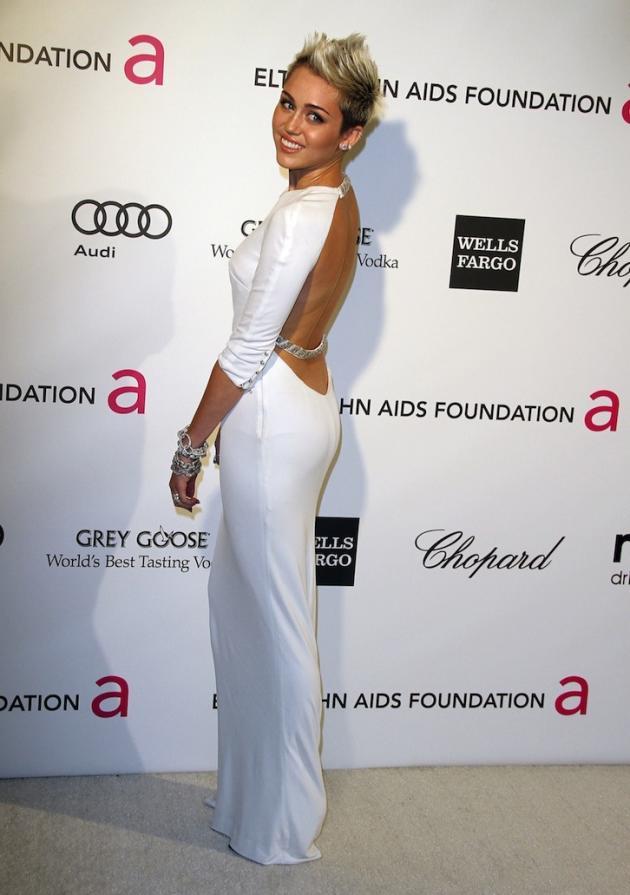 Miley Cyrus Oscar Party Pic