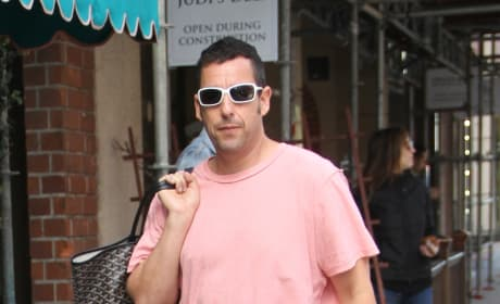 Adam Sandler on the Street