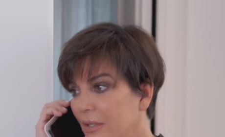 Kris Jenner on the Phone