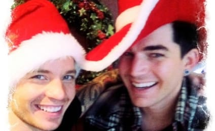 Adam Lambert Celebrates Christmas with Sauli Koskinen