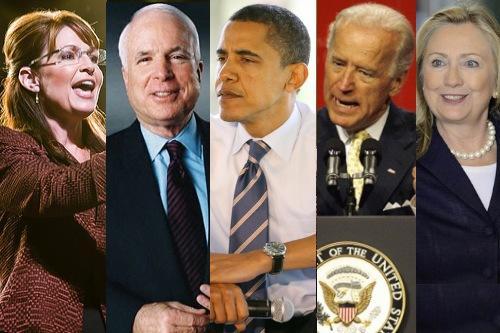 McCain, Palin, Obama