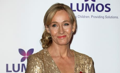 J.K. Rowling on the Red Carpet