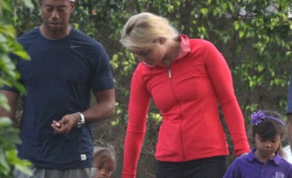 Tiger Woods and Lindsey Vonn Take His Kids to School