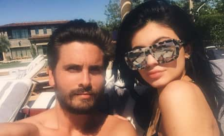 Scott Disick and Kylie Jenner's Pool Day