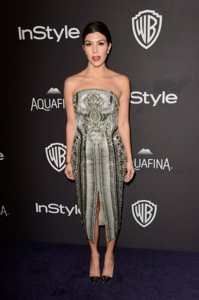 Kourtney Kardashian in Hot Metallic Dress Photo