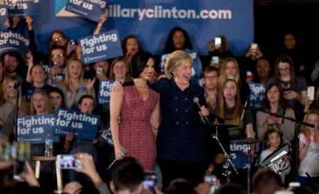 Demi Lovato and Hillary Clinton