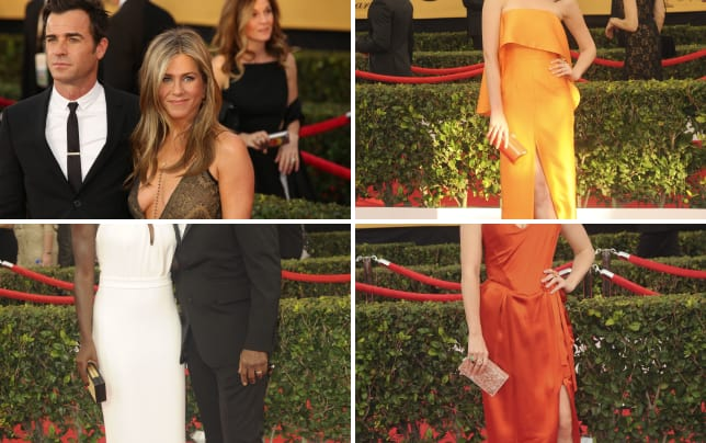 Justin theroux and jennifer aniston at the sag awards