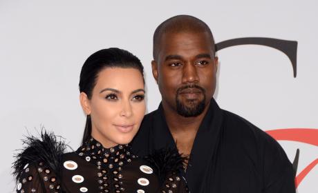 Kim Kardashian and Kanye at CFDA Fashion Awards
