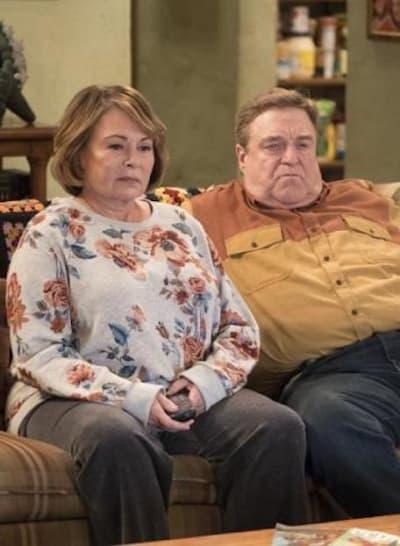 Roseanne and John Goodman