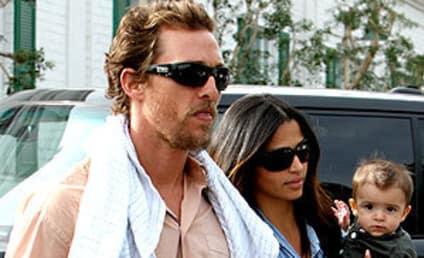 Adorable Family Sighting: Matthew McConaughey, Camila Alves and Little Levi