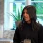 Kourtney kardashian in her sisters kitchen