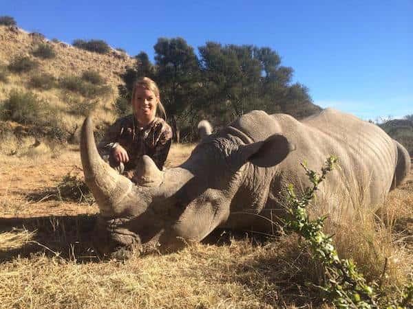 Kendall Jones with Dead Rhino