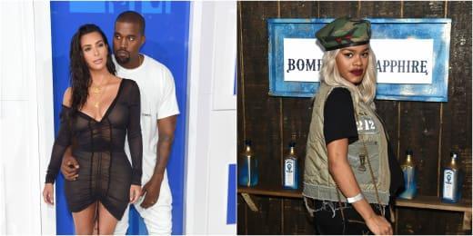 Kanye West Kim Kardashian Teyana Taylor Pic