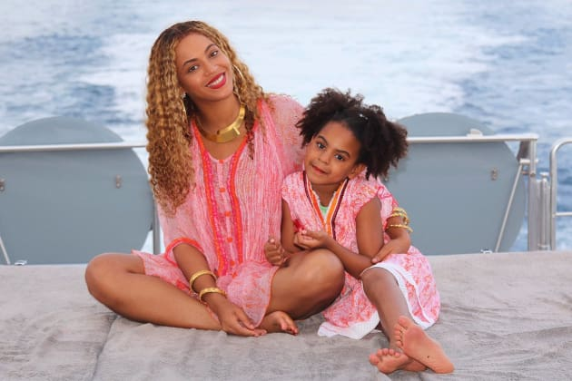 Beyonce and Blue Ivy in Pink