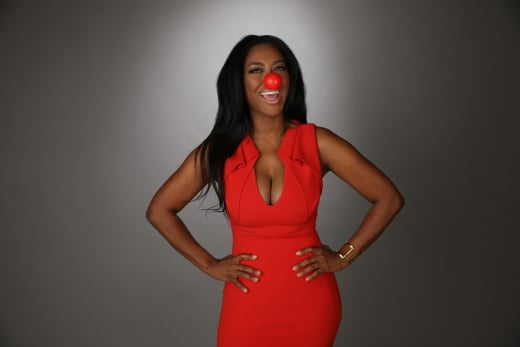 Kenya Moore Red Nose Photo