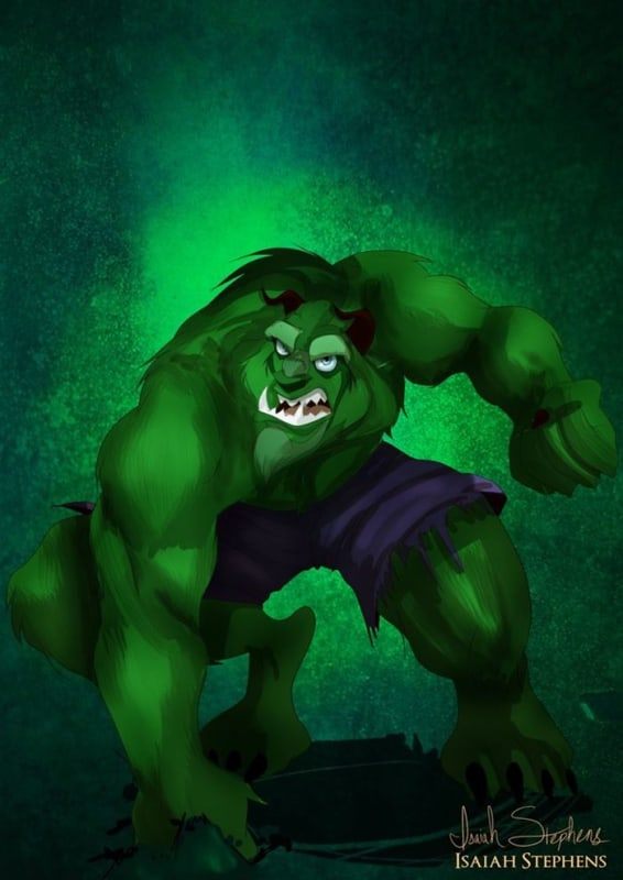 The Beast as The Hulk