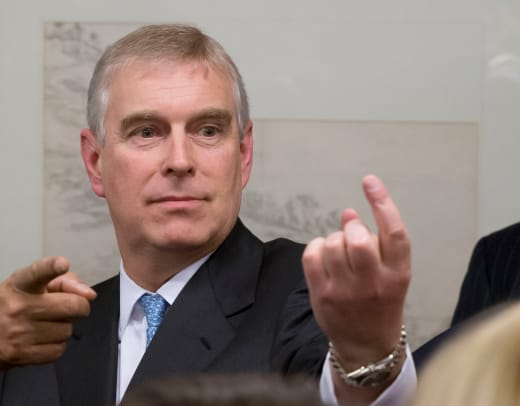 Prince Andrew at a Party
