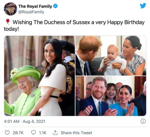 Queen tweets
