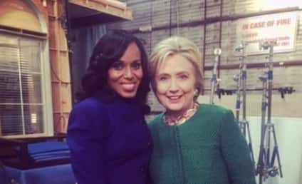 Hillary Clinton Stops By Scandal, Becomes Honorary Gladiator