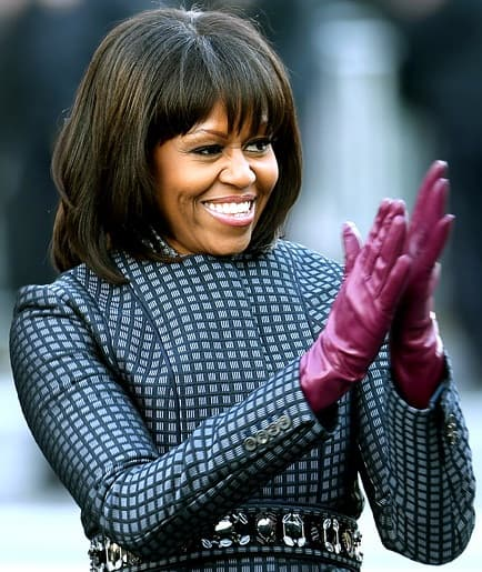 Michelle Obama Bangs Picture
