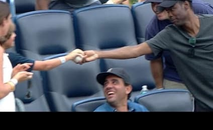 Chris Rock (Sort Of) Catches Foul Ball, Hands Lucky Item to Young Fan