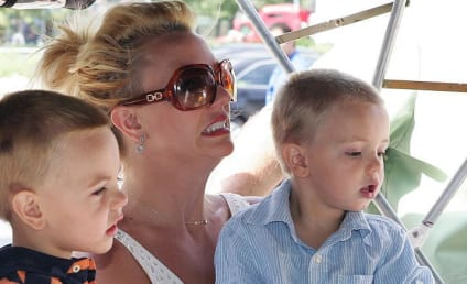 Britney Spears and Kids Go For a Ride