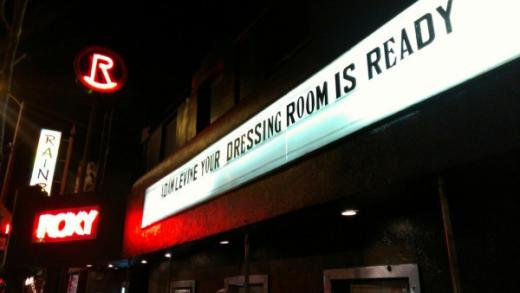 The Roxy Adam Levine Sign