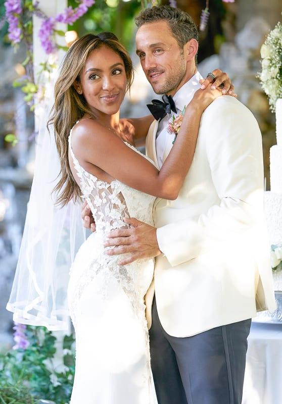 Tayshia adams and zac clark wedding photo