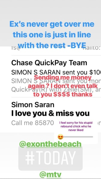 Farrah Abraham vs Simon Saran IG Story 01