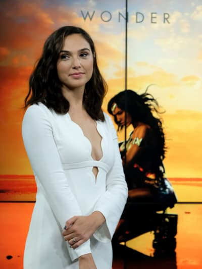 Gal Godot in White for Wonder Woman