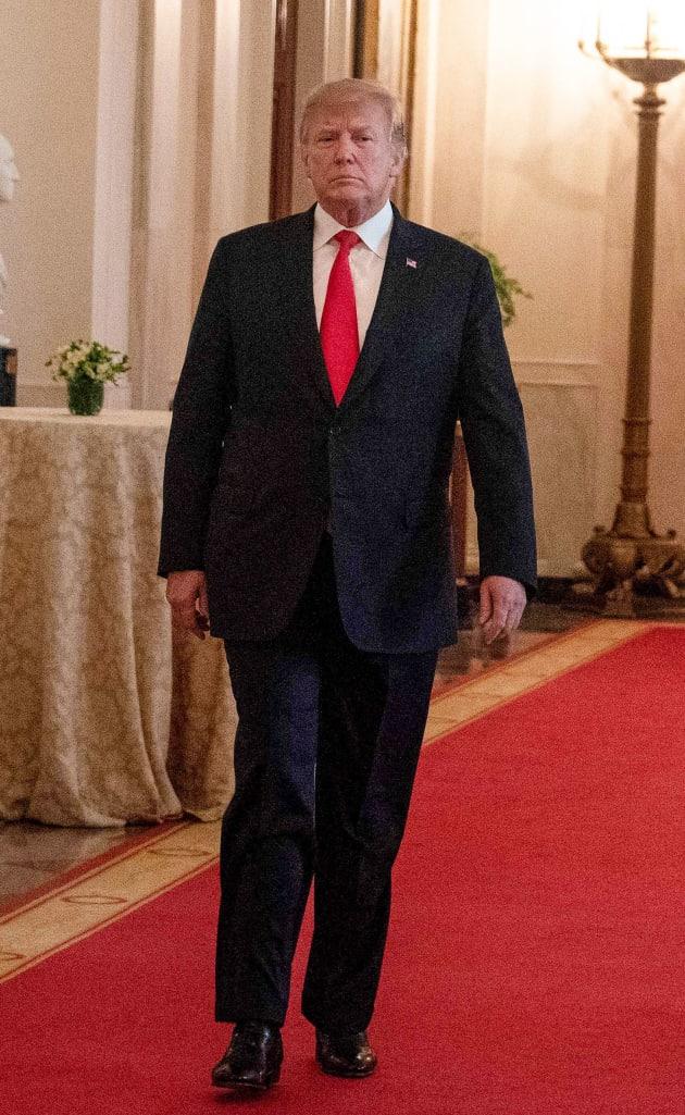 Donald Trump Takes a Stroll