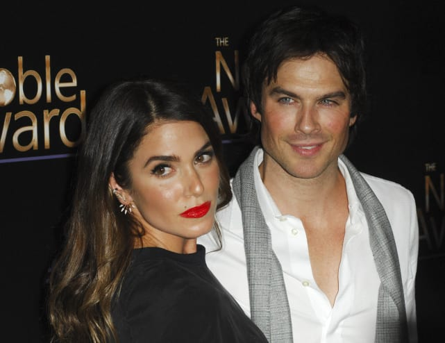 Ian Somerhalder Paints His Wife Red