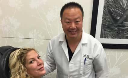 Tori Spelling Instagrams Plastic Surgery Visit, Likely Regrets It