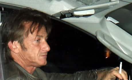 Sean Penn Smoking