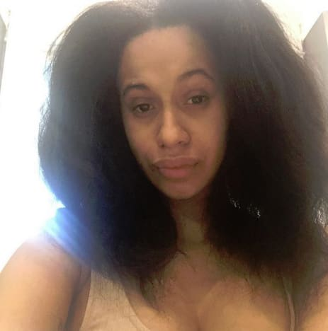 Cardi B, Natural Hair Selfie