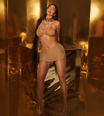 Kylie In Gold