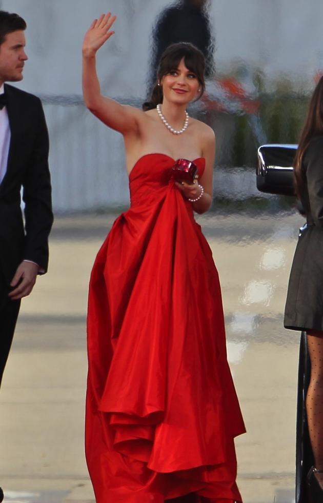 Zooey Deschanel Golden Globe Dress