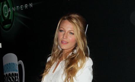 Blake Lively in White Dress