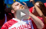 Joey Chestnut Sets Hot Dog Eating Record