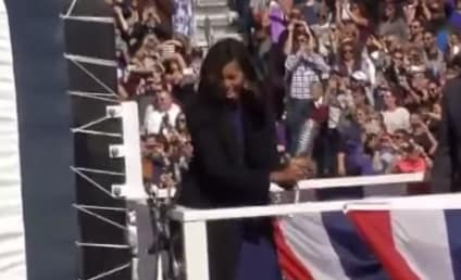 Michelle Obama Smashes Champagne Bottle Like a Boss