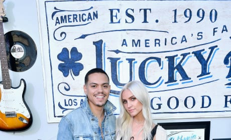 Ashlee Simpson and Evan Ross Smile