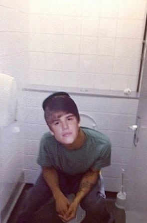 Justin Bieber on the Toilet