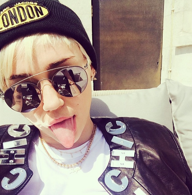 Miley Cyrus in London